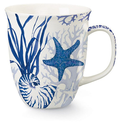 Blue Indigo Shells Mug