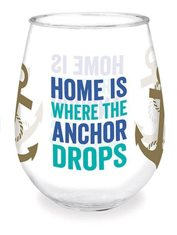 Home is Where the Anchor Drops Wine Tumbler