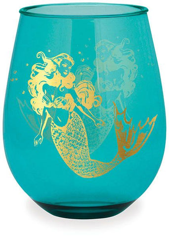 Gold Mermaid Wine Tumbler