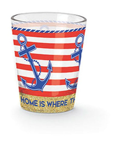 Home is Where the Anchor Drops Shot Glass