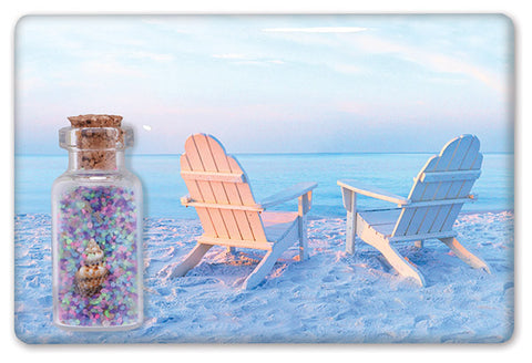 Adirondack Chairs at Sunset Sand Magnet