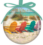 Colorful Adirondack Chairs Ornament