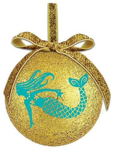 Gold Glitter Mermaid Ornament