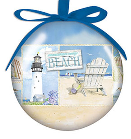 Coastal Collage Ornament