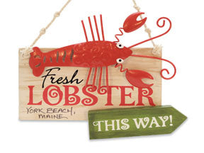 Fresh Lobster Sign Ornament