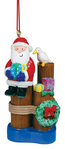 Santa with Seagull Ornament