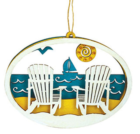 Wood Adirondack Chairs Ornament