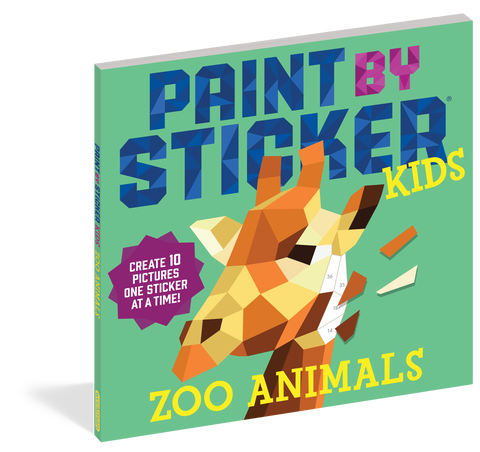 Paint by sticker zoo animals