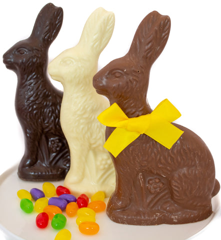 Chocolate Sitting Bunny