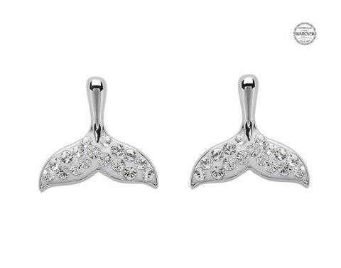 White Whale Stud Earrings