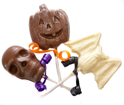 Jack-O-Lantern Chocolate Lollipop