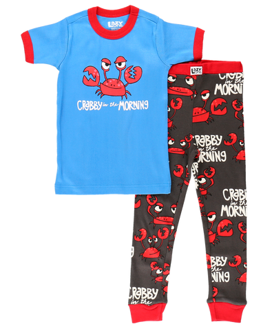 Crabby In The Morning Kids PJs