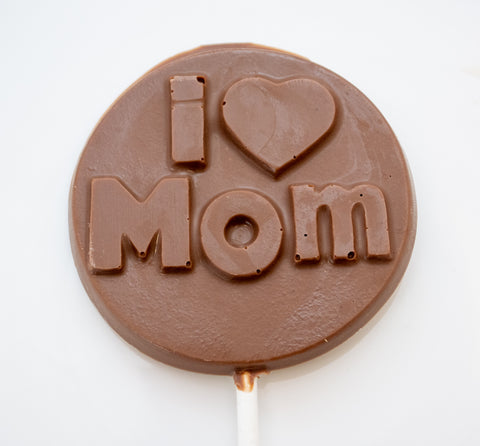 I Love Mom Chocolate Lollipop