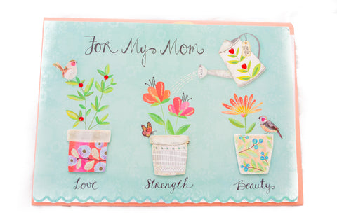 Love Strength Beauty Mother's Day Card