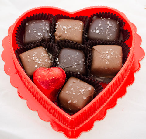 Chocolate Sea Salt Caramel Heart