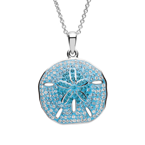 Blue Sand Dollar Necklace
