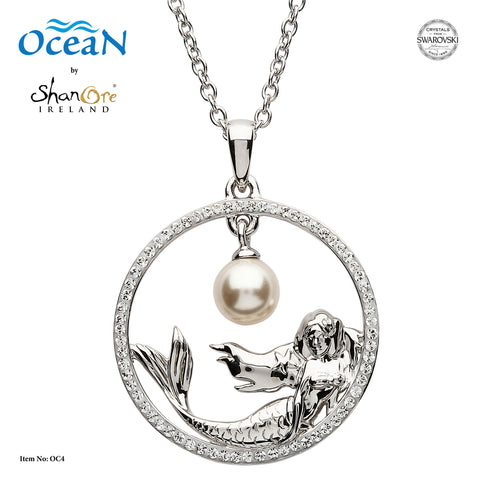 Mermaid Necklace with Dangling Pearl