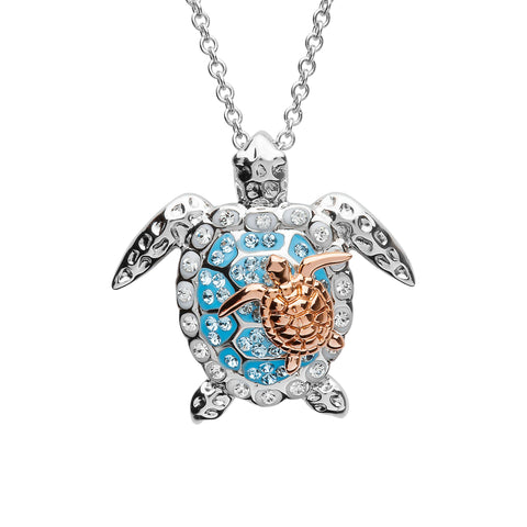 Mother and Baby Sea Turtle Necklace