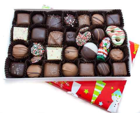 Homemade Assorted Christmas Chocolates