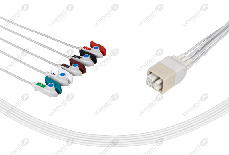 GE Compatible ECG Telemetry Cables 5 Leads Grabber