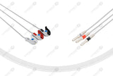 Din Compatible Reusable ECG Lead Wires 3 Leads Grabber