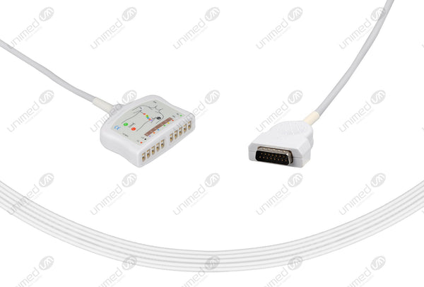Marquette Compatible EKG Trunk Cable-22341809 10 Leads