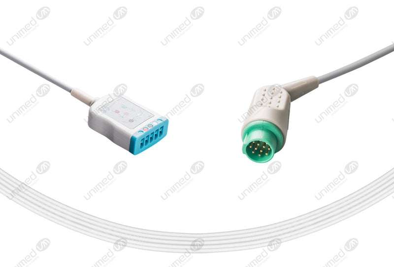 MECG Compatible ECG Trunk Cables 3 Leads,Marquette 5-pin(RA/LA/LL)