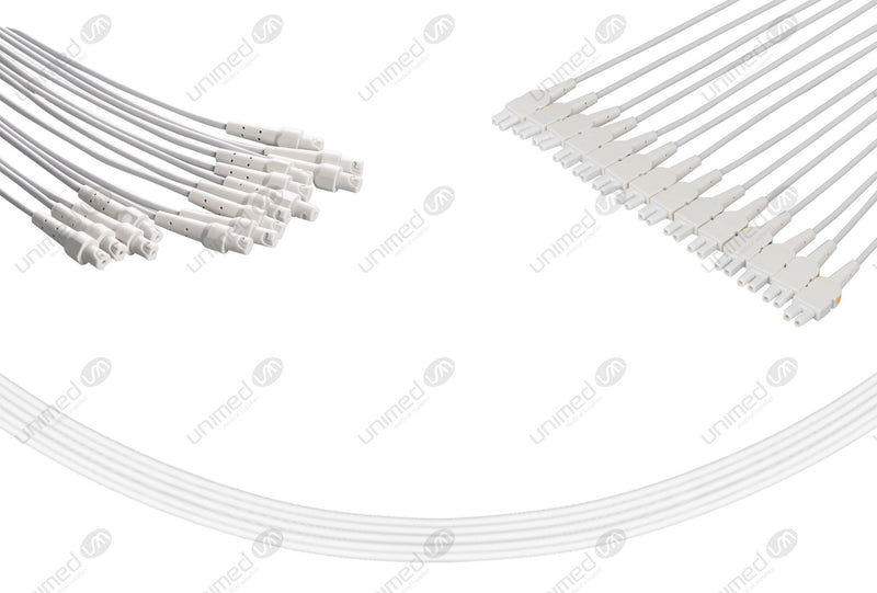 GE CAM 14 Compatible EKG Lead Wire- Without Adapters