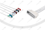 Philips MX40 Compatible Reusable ECG Lead Wires 5 Leads Grabber
