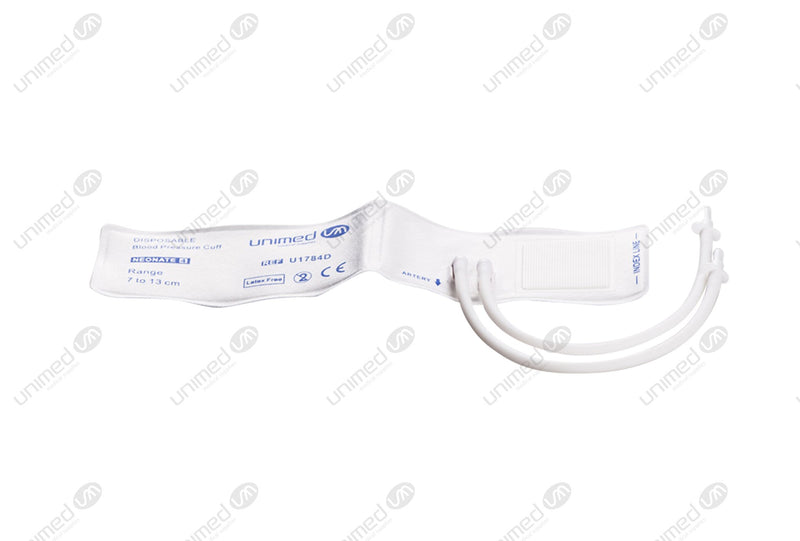 Disposable NIBP Cuff- 2524 Double Tube Neonate #4 7-13cm box of 10