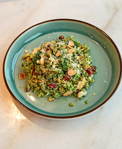 Couscous and Haricot Bean Salad with Pomegranate and Toasted Almonds