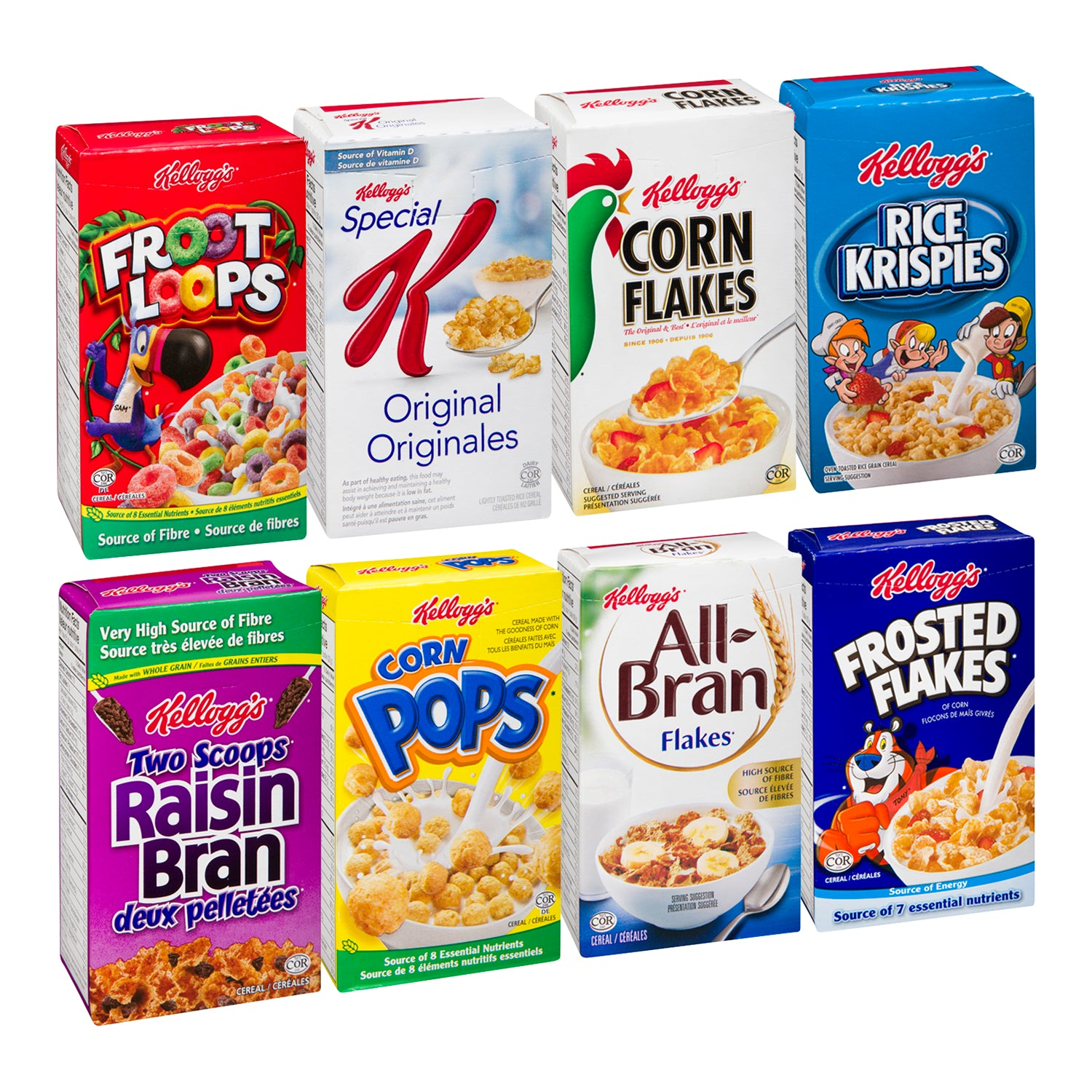 Kellogg's Assorted Individual Cereal 30 g - 70 Pack [$0.70/each]