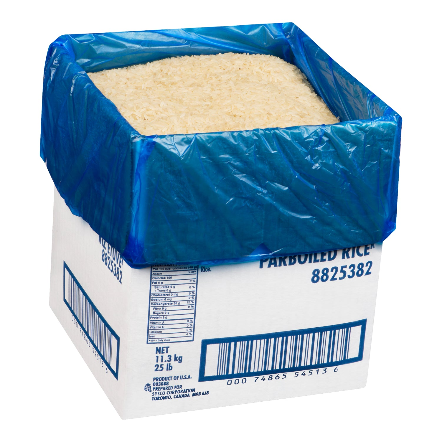 Sysco Imperial Par Boiled Rice 11.13 kg - 1 Pack [$2.60/kg]