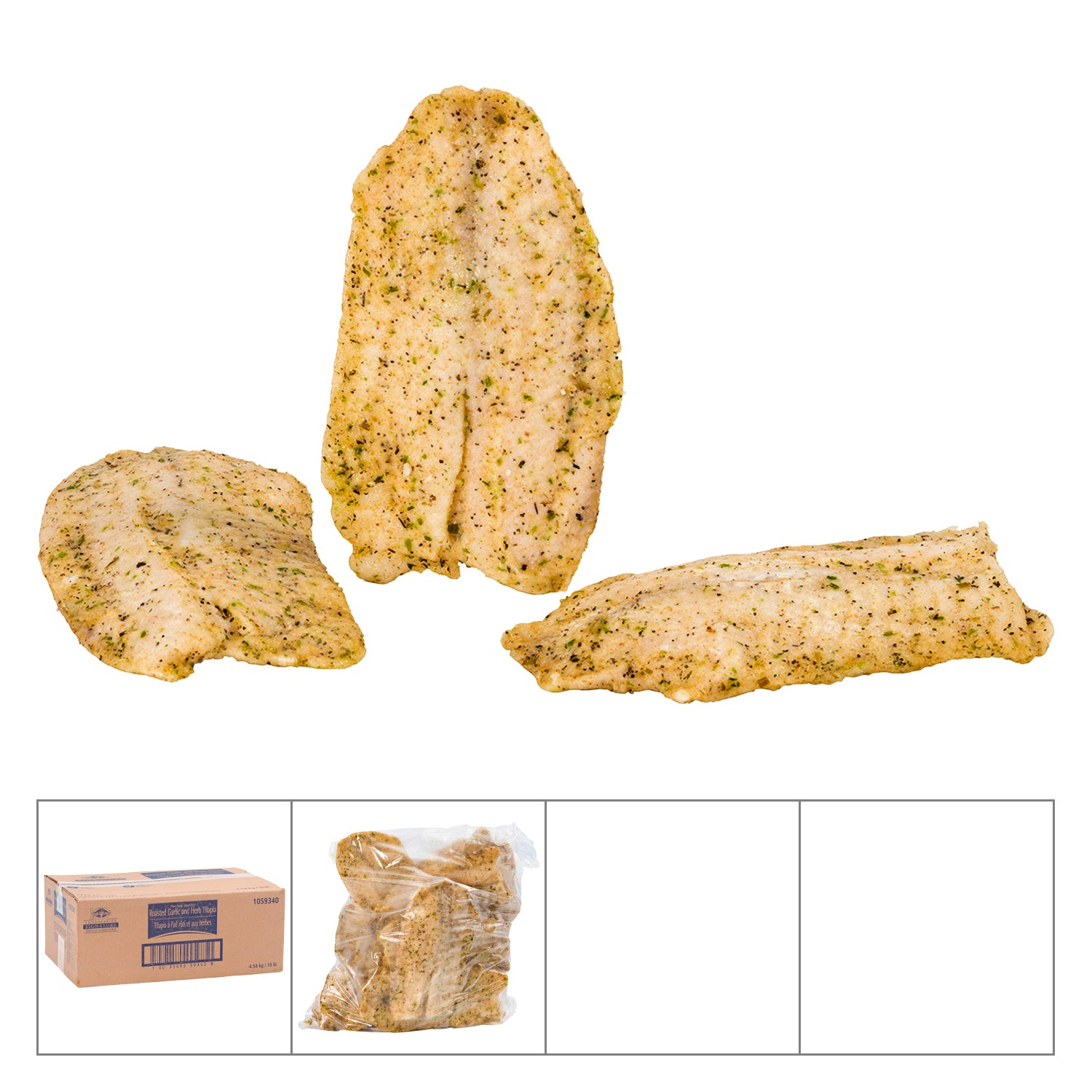 High Liner Frozen Pan Seared Garlic & Her Tilapia Fillet 5 oz - 32 Pack [$2.97/each]