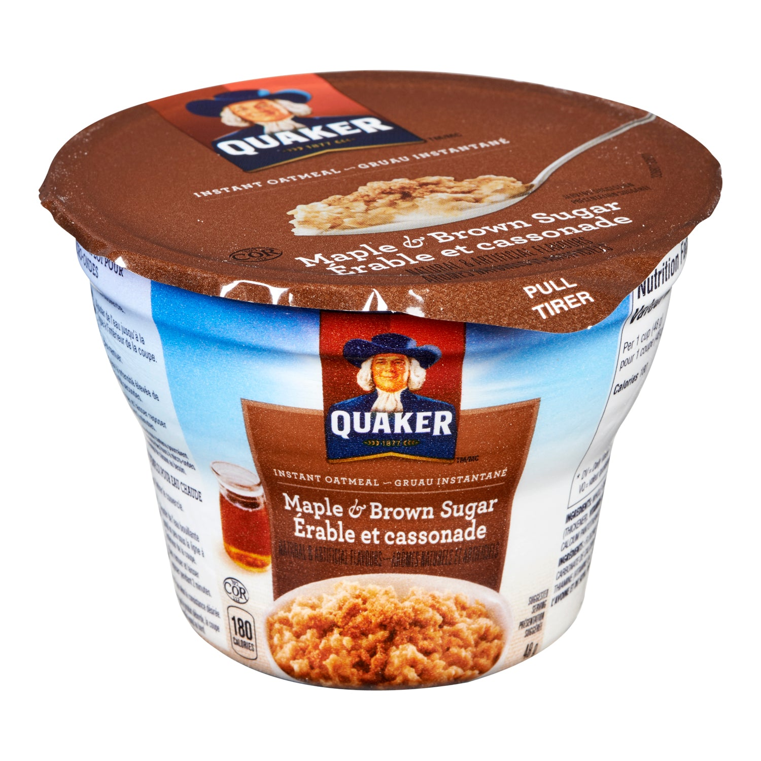 Quaker Maple Brown Sugar Flavoured Instant Oatmeal 48 g - 12 Pack [$1.33/each]
