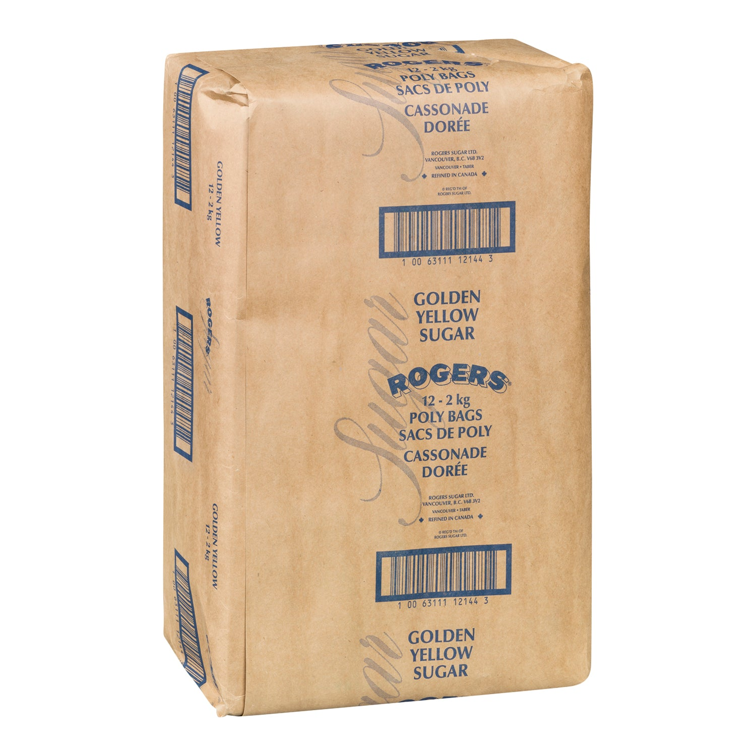 Rogers Golden Yellow Brown Sugar 2 kg - 1 Pack [$2.50/kg]