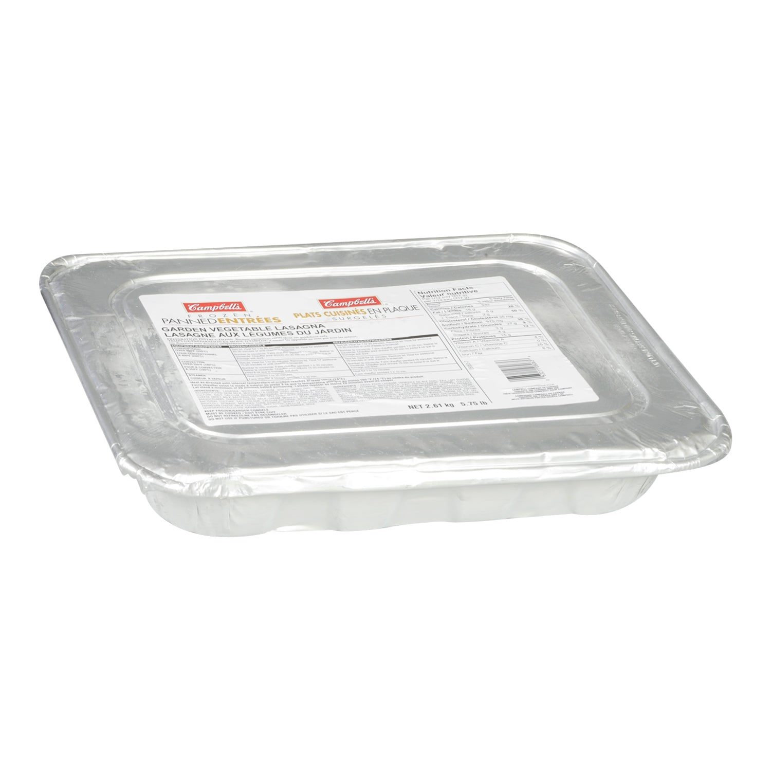 Campbell's Frozen Vegetable Lasagna 5.7 lb - 4 Pack [$4.39/lb]