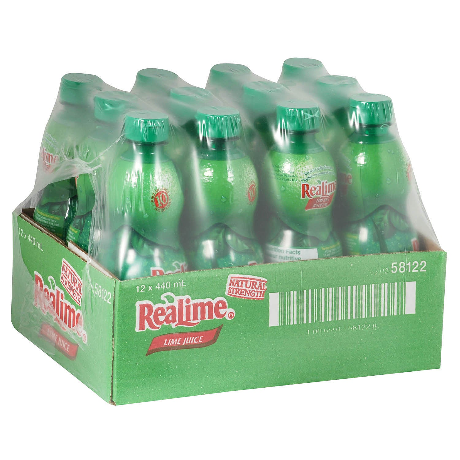 Real Lime Lime Juice 440 ml - 12 Pack [$2.17/each]