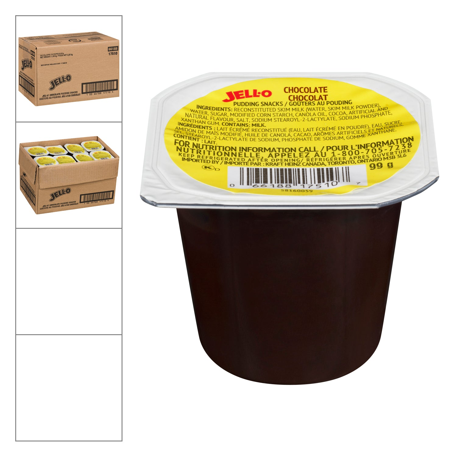 Kraft Chocolate Pudding Cup 99 g - 24 Pack [$0.62/each]