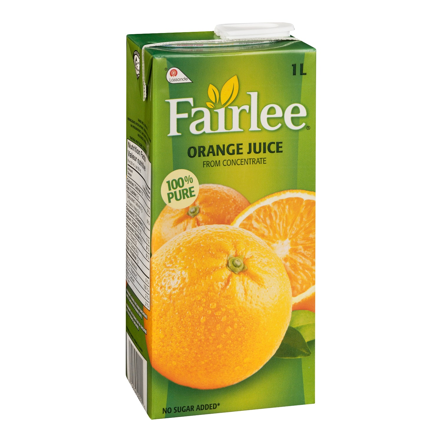 Fairlee Orange Juice Tetra Pack 1 L - 12 Pack [$2.08/each]