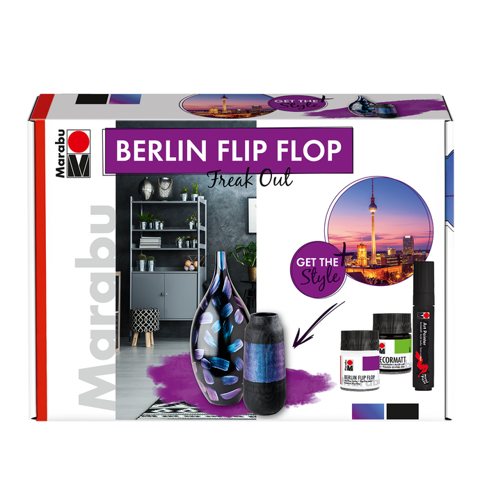 "Marabu Berlin Flip Flop Set ""Freak Out"""
