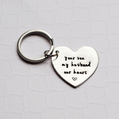 mother-of-groom custom heart keychain