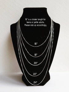Three-layer silver necklace