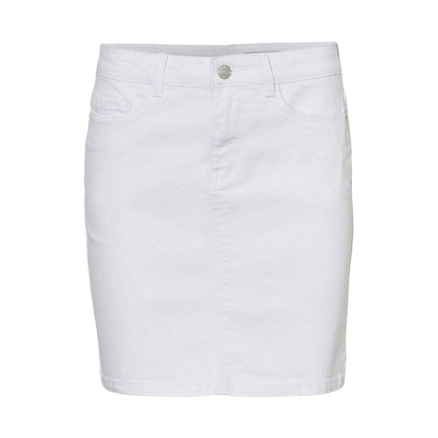 vero moda hot seven mini skirt - white - JAVELIN