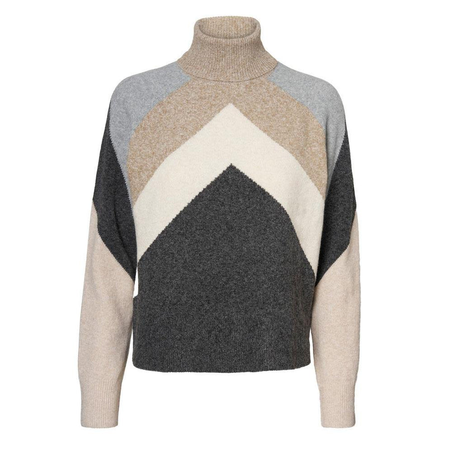 vero moda doffy block jumper - JAVELIN