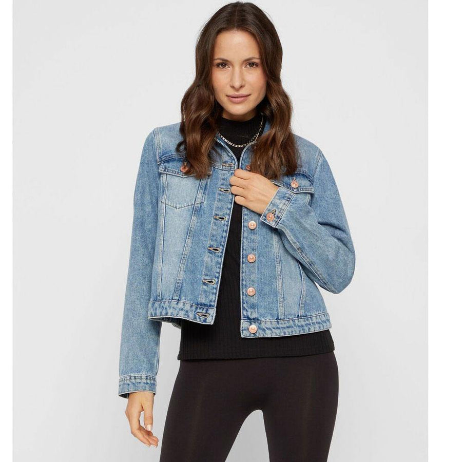 pieces lou denim jacket - JAVELIN