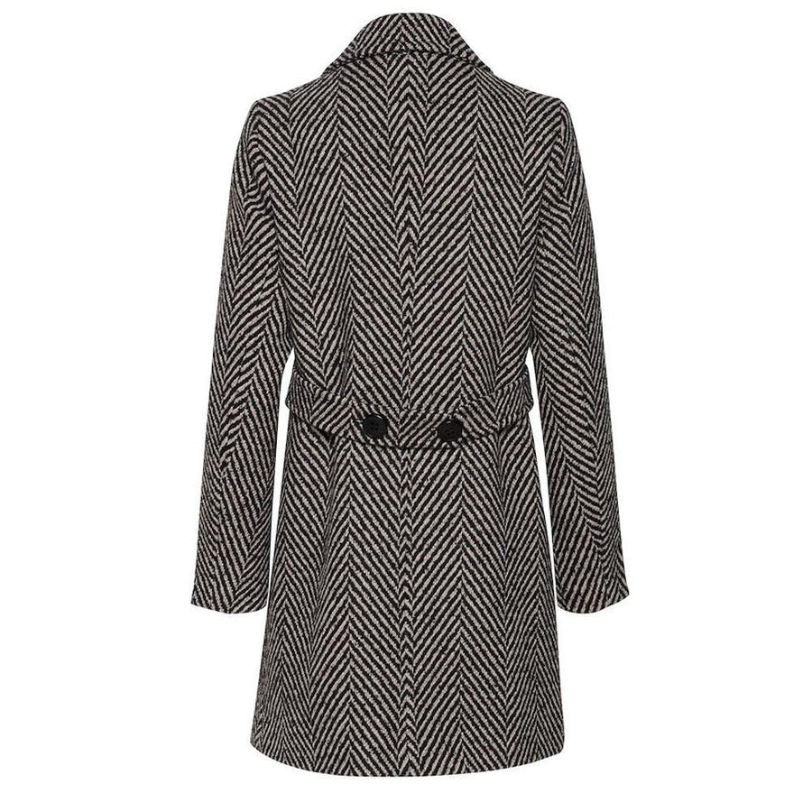 b.young bychrista coat herringbone