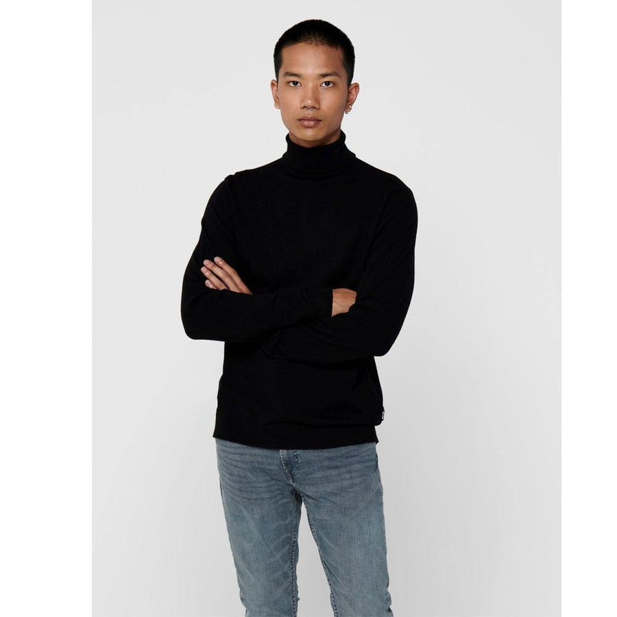 only & sons mikkel rollneck sweater - JAVELIN
