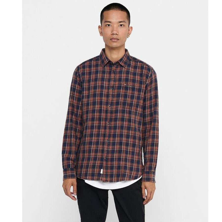 only & sons storm check shirt - JAVELIN