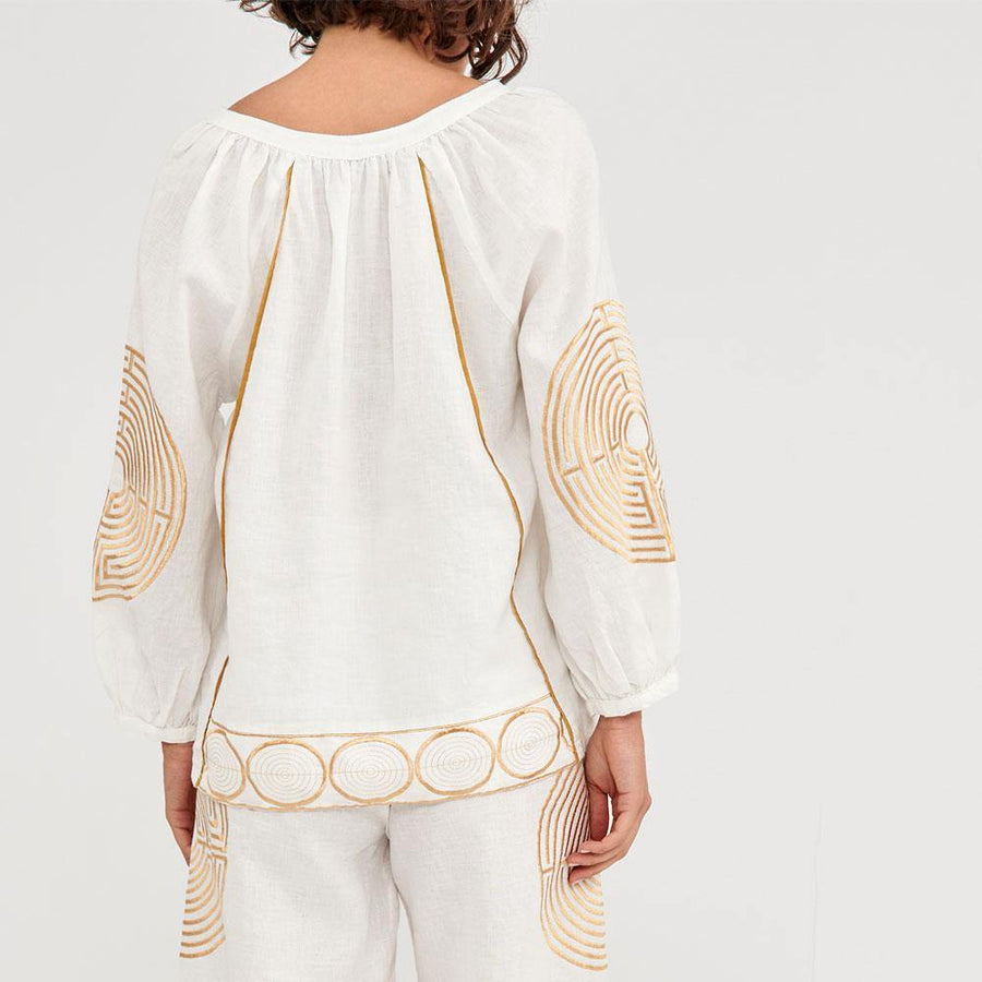 greek archaic kori labyrinth blouse - JAVELIN